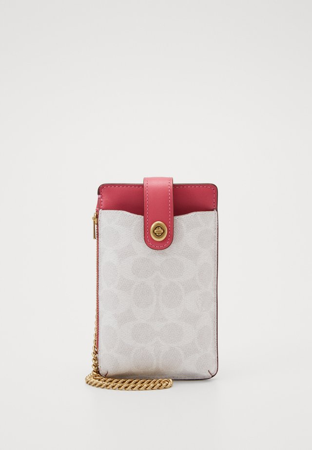 SIGNATURE BLOCKING TURNLOCK CHAIN PHONE CROSSBODY - Handytasche - chalk/confetti pink