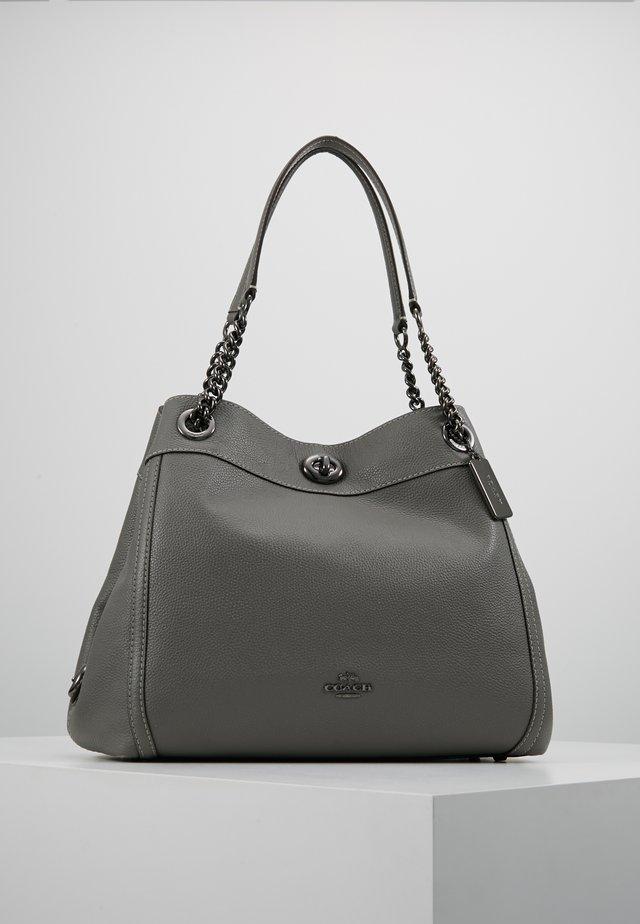 POLISHED TURNLOCK EDIE  - Handbag - heather grey
