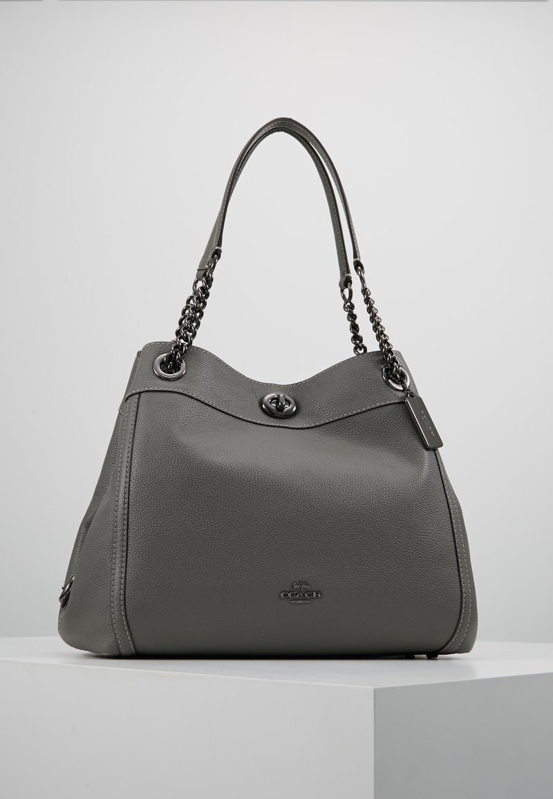 Coach - POLISHED TURNLOCK EDIE  - Håndveske - heather grey