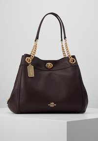 Coach - POLISHED TURNLOCK EDIE  - Bolso de mano - oxblood - 0