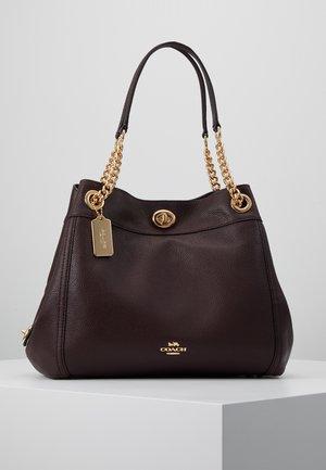 POLISHED TURNLOCK EDIE  - Handbag - oxblood