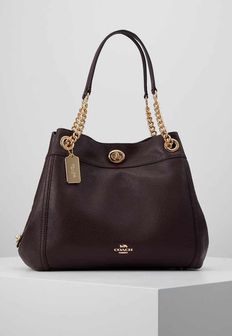 Coach - POLISHED TURNLOCK EDIE  - Bolso de mano - oxblood