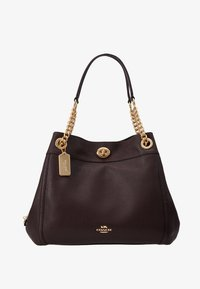 Coach - POLISHED TURNLOCK EDIE  - Bolso de mano - oxblood - 5