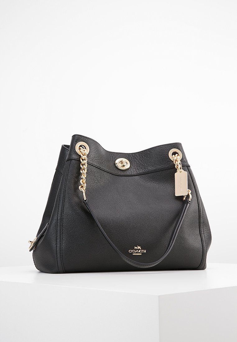 Coach - POLISHED TURNLOCK EDIE  - Kabelka - black