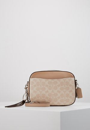SIGNATURE CAMERA BAG - Sac bandoulière - sand taupe