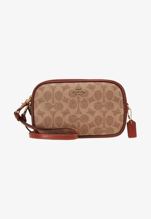 SIGNATURE CROSSBODY - Across body bag - tan rust