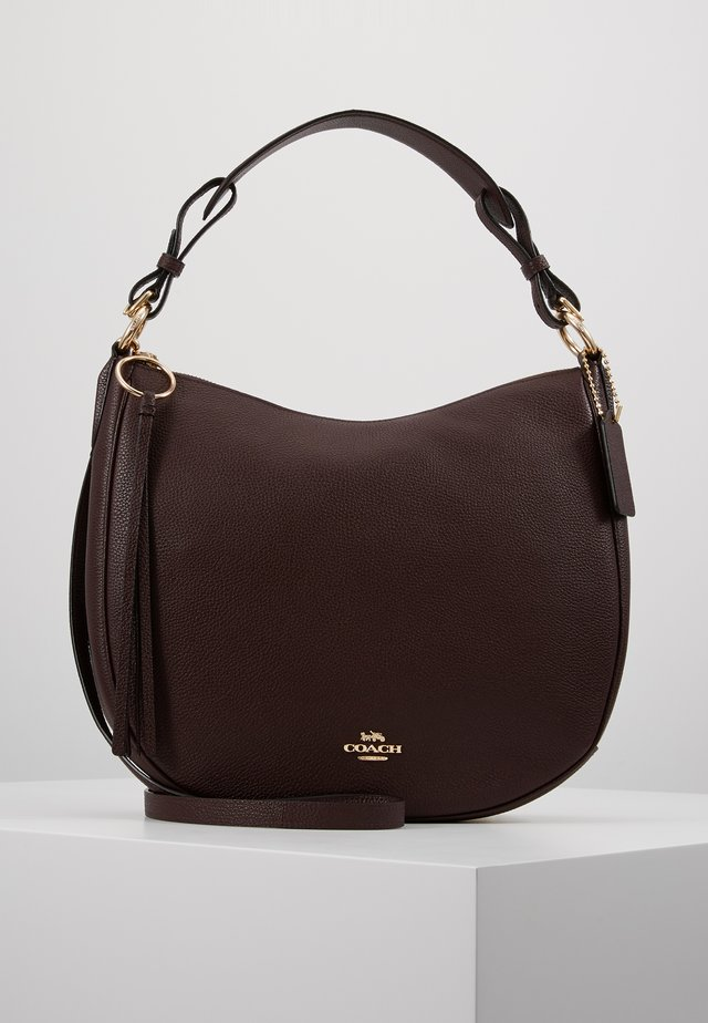 POLISHED SUTTON - Handtasche - oxblood