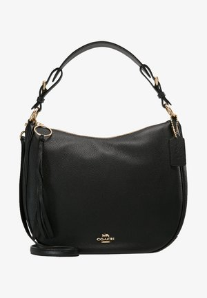 POLISHED SUTTON - Handbag - gold/black