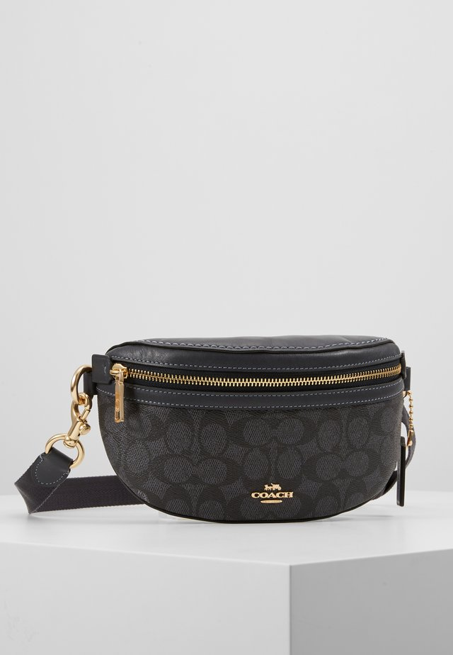 COATED SIGNATURE FANNY PACK - Sac banane - charcoal/midnight navy