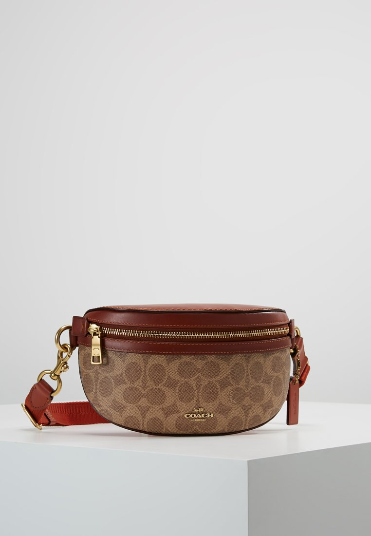 Coach - COATED SIGNATURE FANNY PACK - Bæltetasker - tan rust