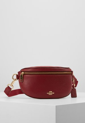 POLISHED PEBBLE FANNY PACK - Rumpetaske - deep red