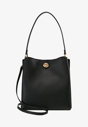 POLISHED CHARLIE BUCKET - Handbag - black