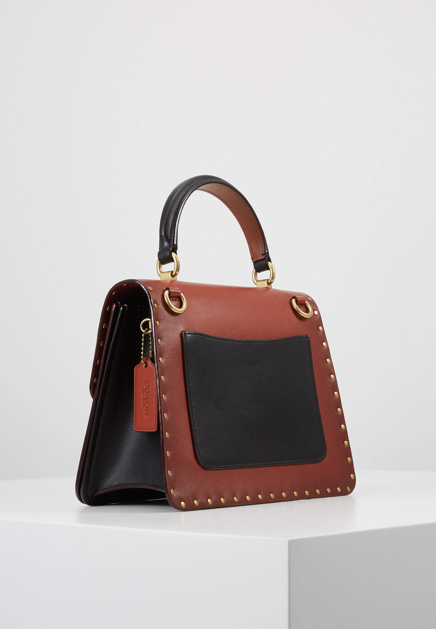 Coach TOP HANDLE - Borsa a mano - tan/black