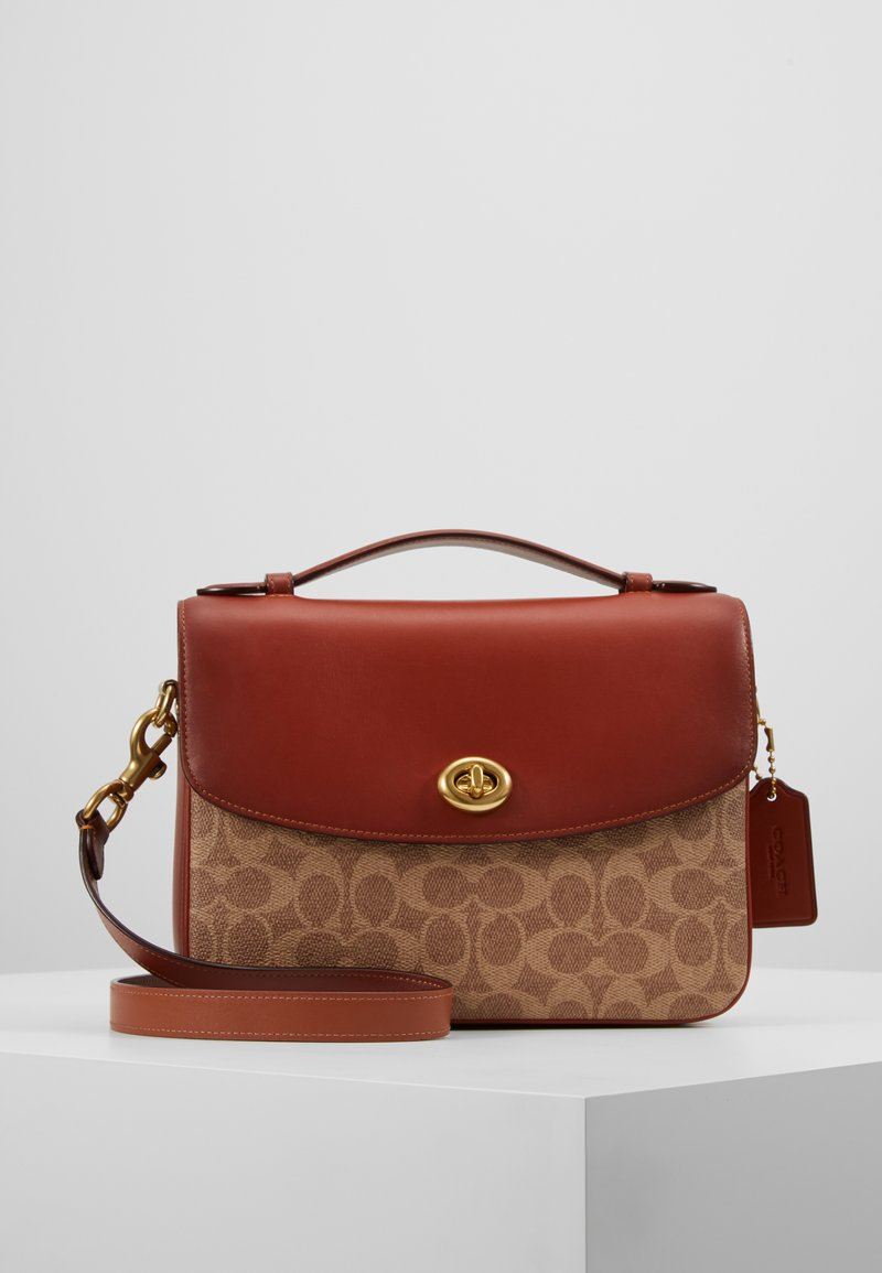 Coach - SIGNATURE BLAISE CROSSBODY - Torebka - tan rust