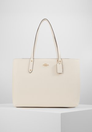 POLISHED CENTRAL TOTE WITH ZIP - Handtasche - white