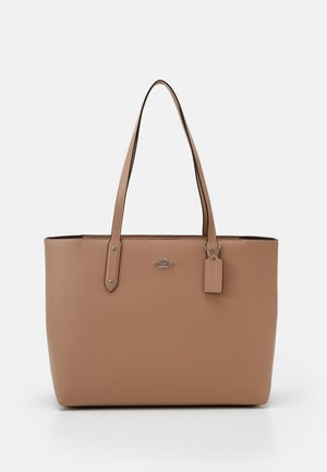 POLISHED CENTRAL TOTE WITH ZIP - Shopper - taupe