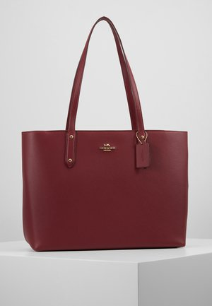 POLISHED CENTRAL TOTE WITH ZIP - Shoppingveske - deep red