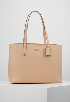 POLISHED CENTRAL TOTE WITH ZIP - Håndveske - beechwood