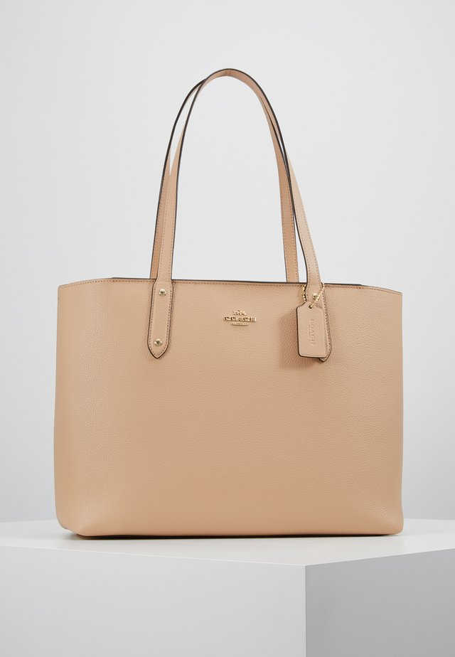 POLISHED CENTRAL TOTE WITH ZIP - Handtasche - beechwood