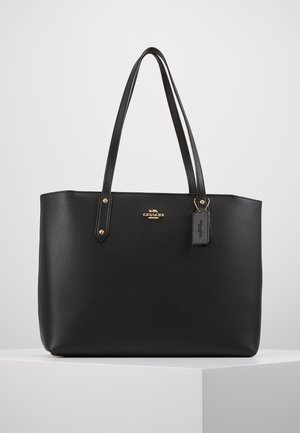 POLISHED CENTRAL TOTE WITH ZIP - Håndveske - black