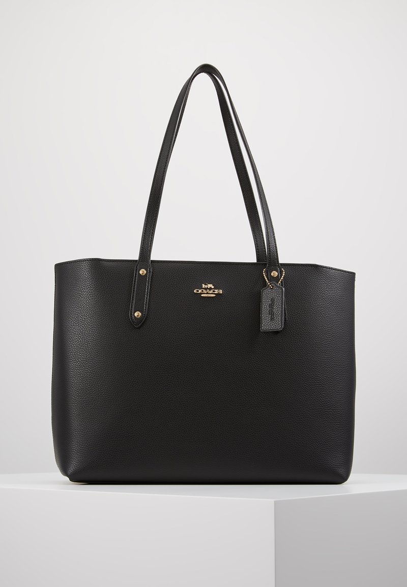 Coach - POLISHED CENTRAL TOTE WITH ZIP - Tote bag - black
