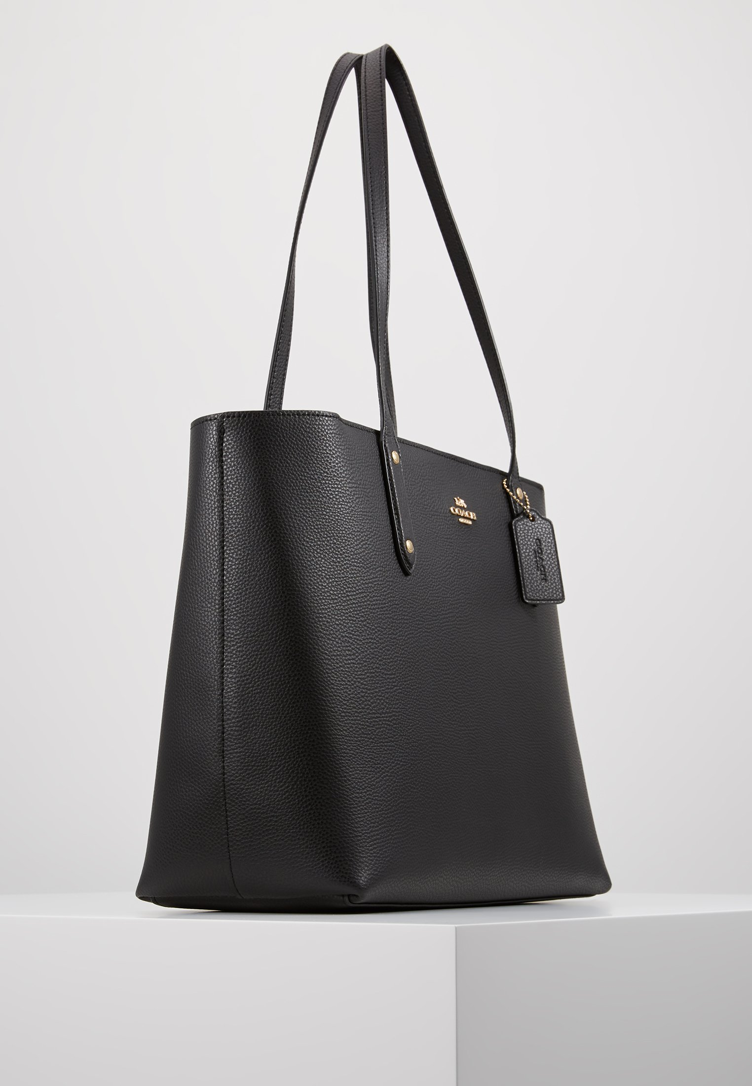 Coach Polished Central Tote With Zip - Sac À Main Black