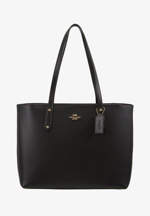 POLISHED CENTRAL TOTE WITH ZIP - Handbag - black