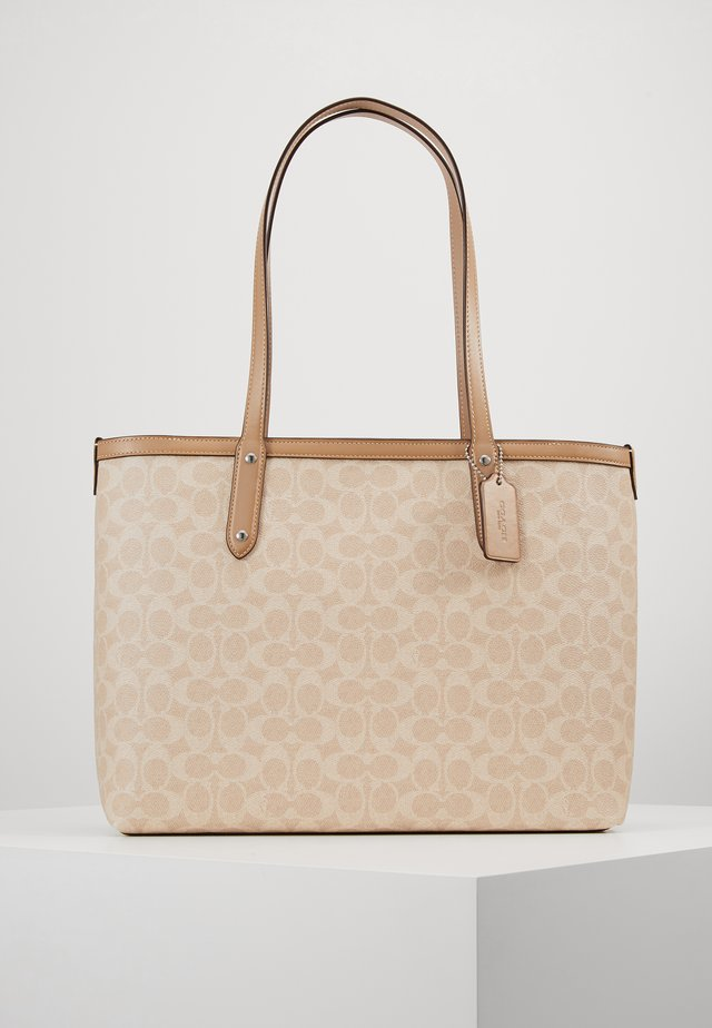 SIGNATURE CENTRAL TOTE WITH ZIP - Kabelka - sand taupe