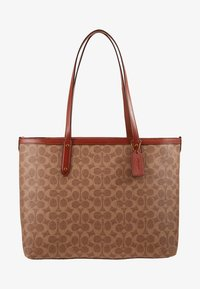Coach - SIGNATURE CENTRAL TOTE WITH ZIP - Håndveske - tan/rust - 5