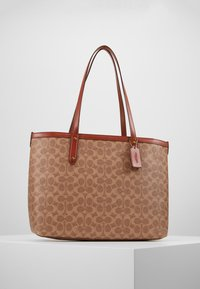 Coach - SIGNATURE CENTRAL TOTE WITH ZIP - Håndveske - tan/rust - 0