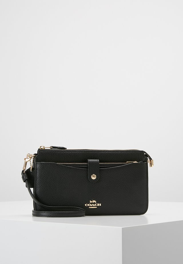 POLISHED PEBBLE POP UP MESSENGER - Pochette - black