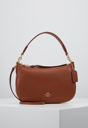 POLISHED SUTTON CROSSBODY - Kabelka - saddle