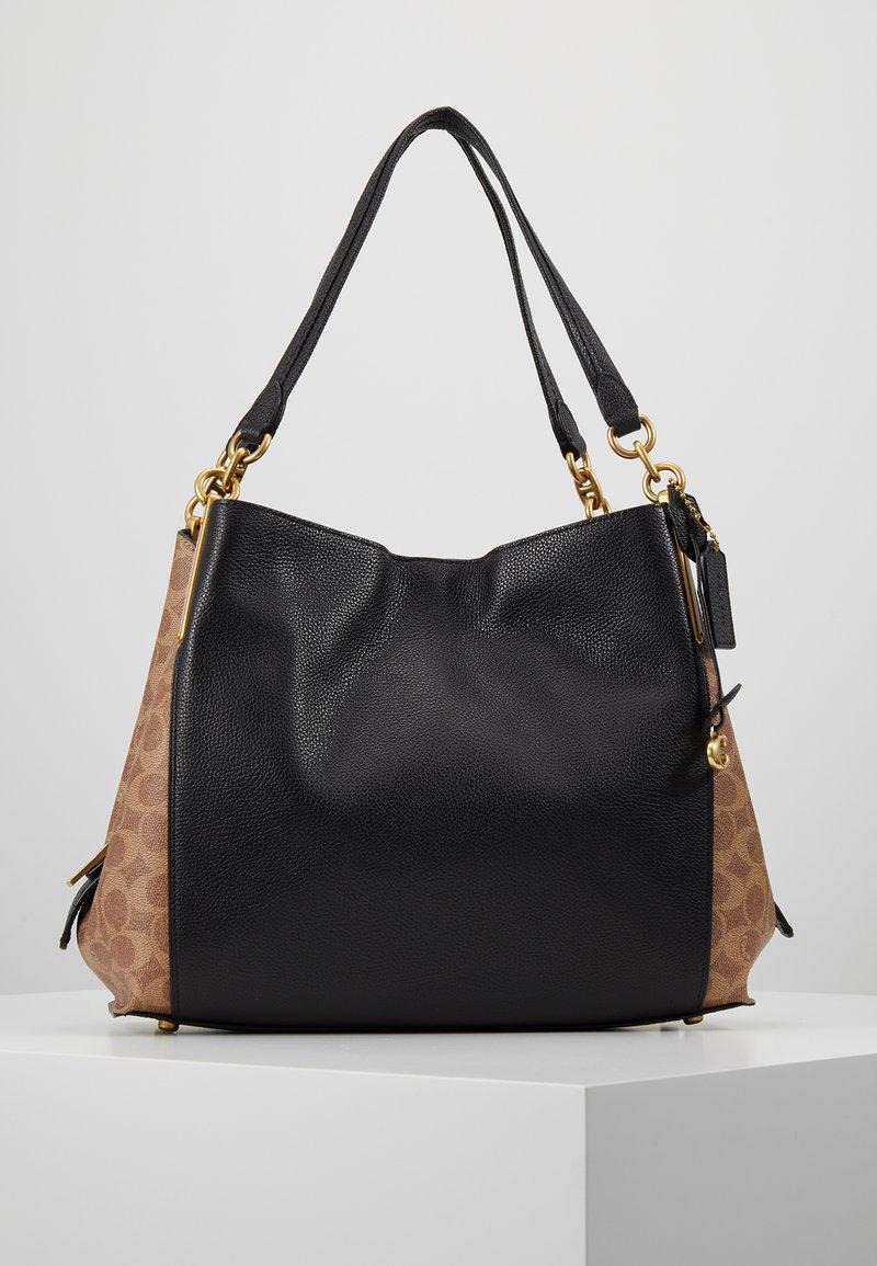 Coach - SIGNATURE BLOCKING DALTON SHOULDER BAG - Bolso de mano - tan /black