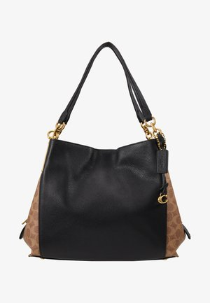 SIGNATURE BLOCKING DALTON SHOULDER BAG - Kabelka - tan /black