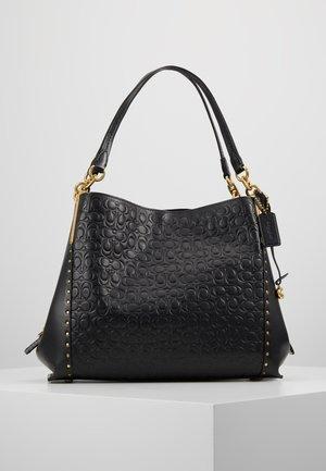 SIGNATURE WITH BORDER RIVETS DALTON SHOULDER BAG - Handtasche - black