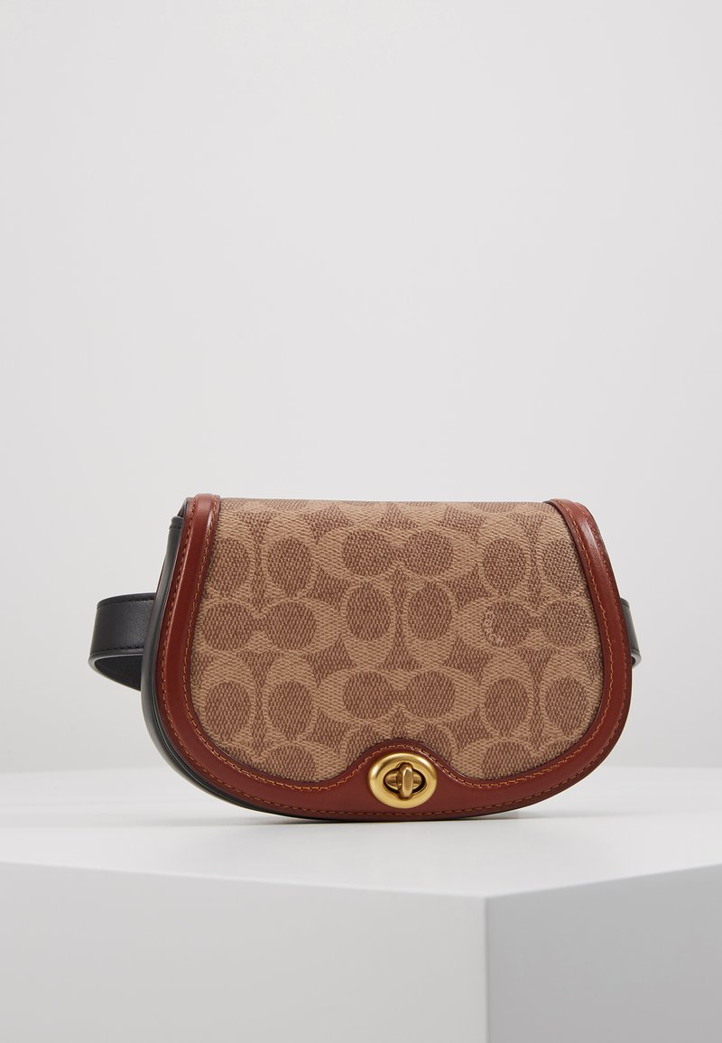 Coach - COLORBLOCK SIGNATURE SADDLE BELT BAG - Bum bag - tan/rust