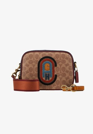 SIGNATURE PATCH CAMERA BAG - Schoudertas - tan/black/multi