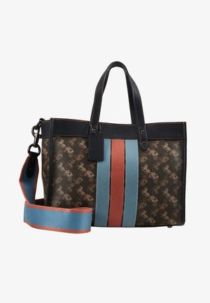 HORSE AND CARRIAGE VARSITY STRIPE FIELD TOTE - Borsa a mano - brown/black