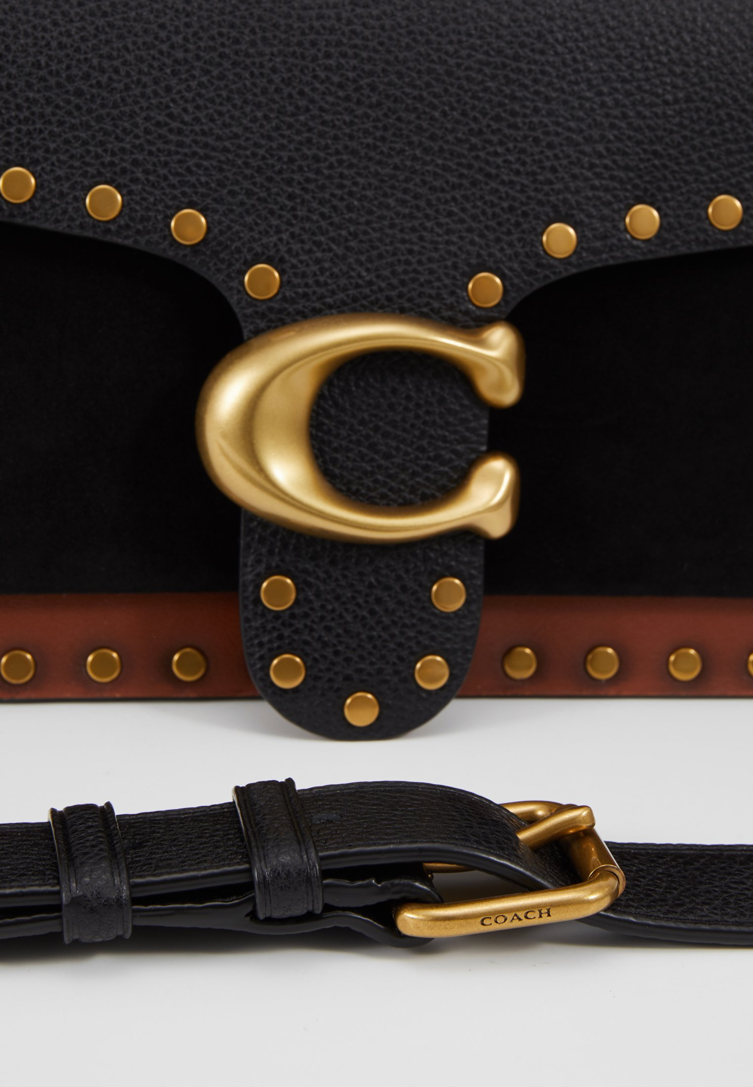 Coach Mixed With Border Rivets Tabby Shoulder Bag - Handtas Black Multi X1ORUdo