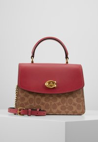 Coach - COATED SIGNATURE PARKER TOP HANDLE - Borsa a mano - tan/dusty pink - 0