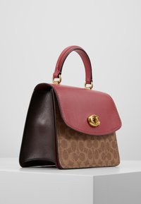 Coach - COATED SIGNATURE PARKER TOP HANDLE - Borsa a mano - tan/dusty pink - 3