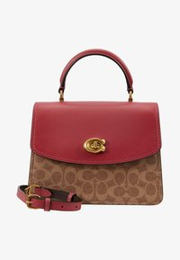 Coach - COATED SIGNATURE PARKER TOP HANDLE - Borsa a mano - tan/dusty pink - 5