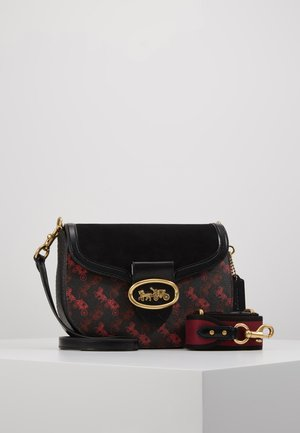 HORSE AND CARRIAGE SADDLE BAG - Across body bag - black