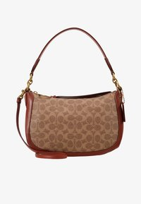 Coach - COATED SIGNATURE SUTTON CROSSBODY - Taška s příčným popruhem - tan rust - 5
