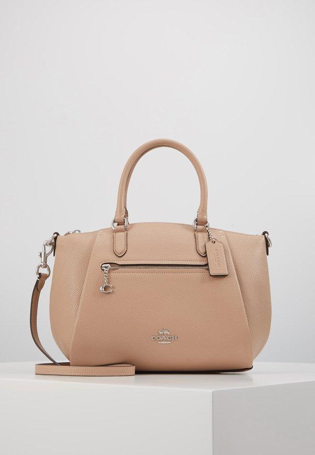 POLISHED ELISE SATCHEL - Handbag - taupe