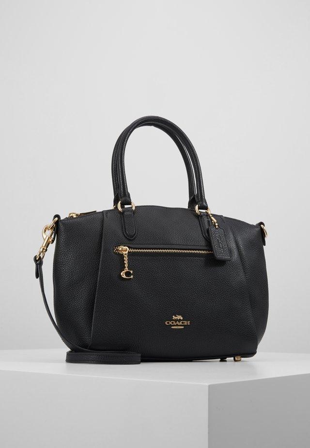 POLISHED ELISE SATCHEL - Handbag - black
