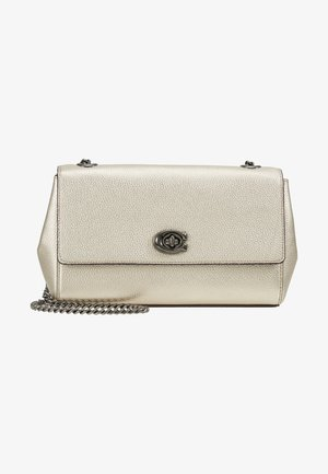 METALLIC CAM CHAIN CROSSBODY  - Across body bag - platinum