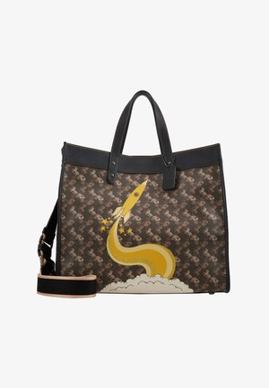 HORSE AND CARRIAGE COATED ROCKET FIELD TOTE - Velká kabelka - brown black