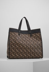 Coach - HORSE AND CARRIAGE COATED ROCKET FIELD TOTE - Shopping bags - brown black - 2