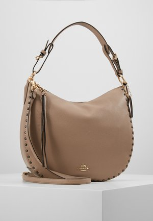 SCALLOP RIVETS SUTTON HOBO - Torebka - stone